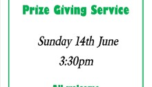 Sunday School Prizegiving Notice 2015