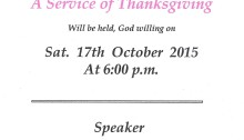 Thanksgiving service 2015